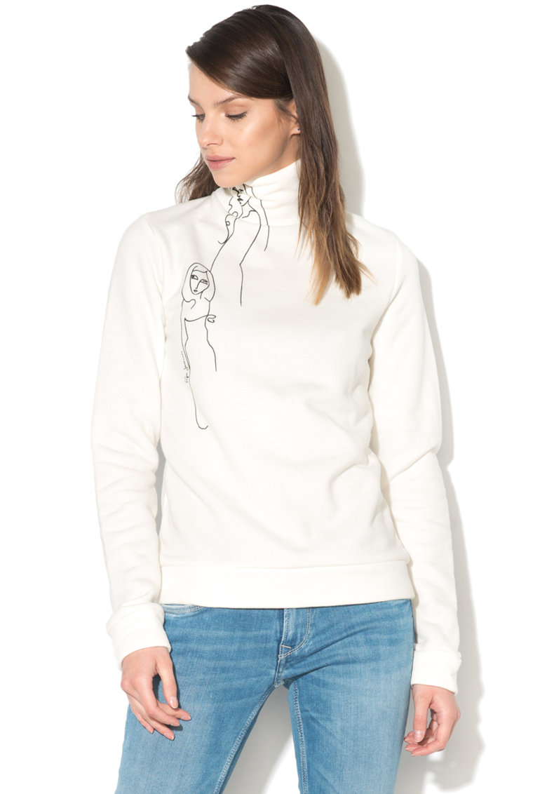Bluza sport cu imprimeu grafic Su
