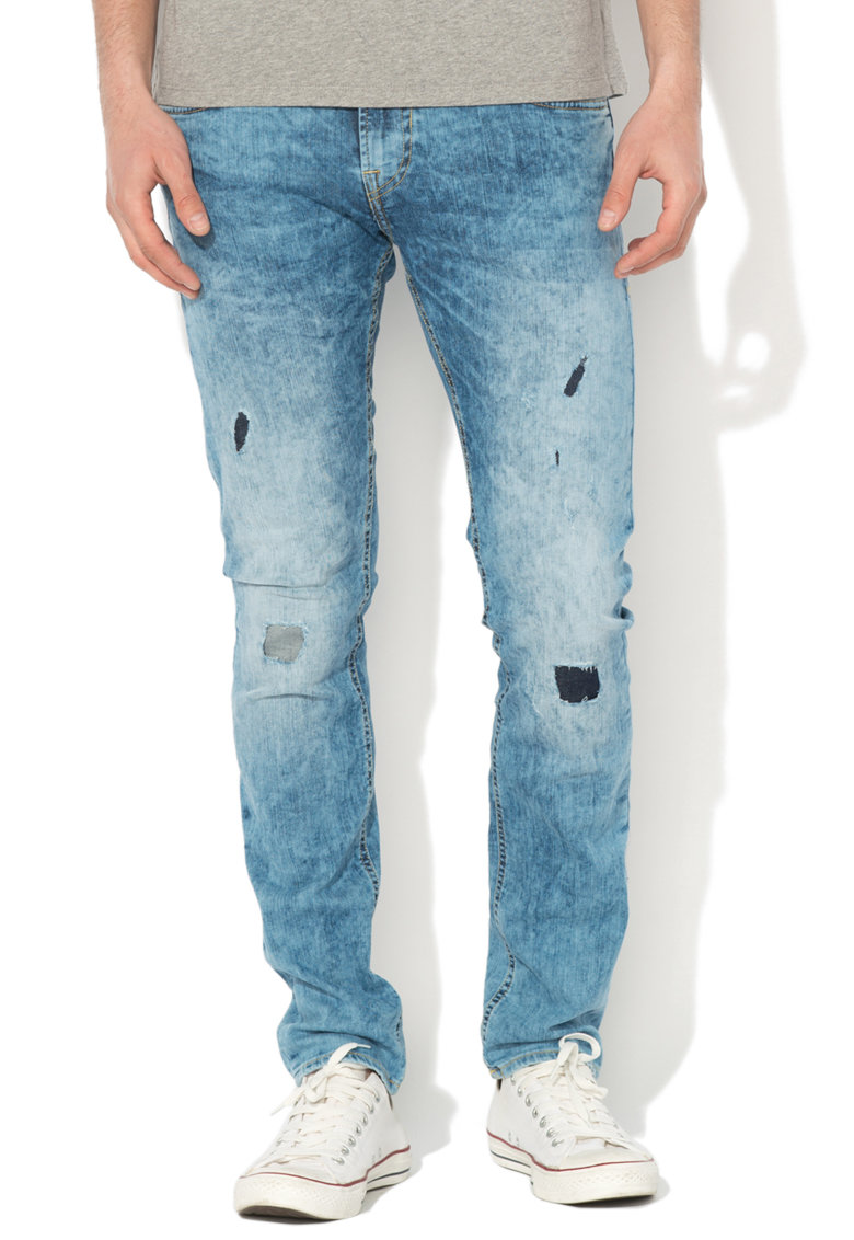 GUESS JEANS Blugi super skinny cu aspect decolorat Miami