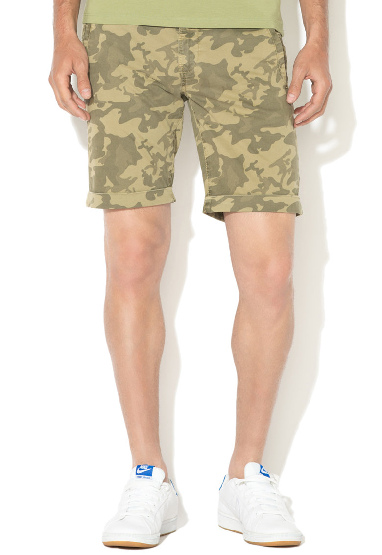 Andy Warhol by Pepe Jeans Pepe Jeans London – Bermude chino cu model camuflaj