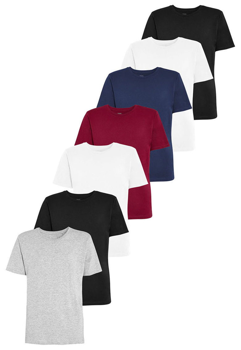 NEXT Set de tricouri cu decolteu rotund – 7 piese