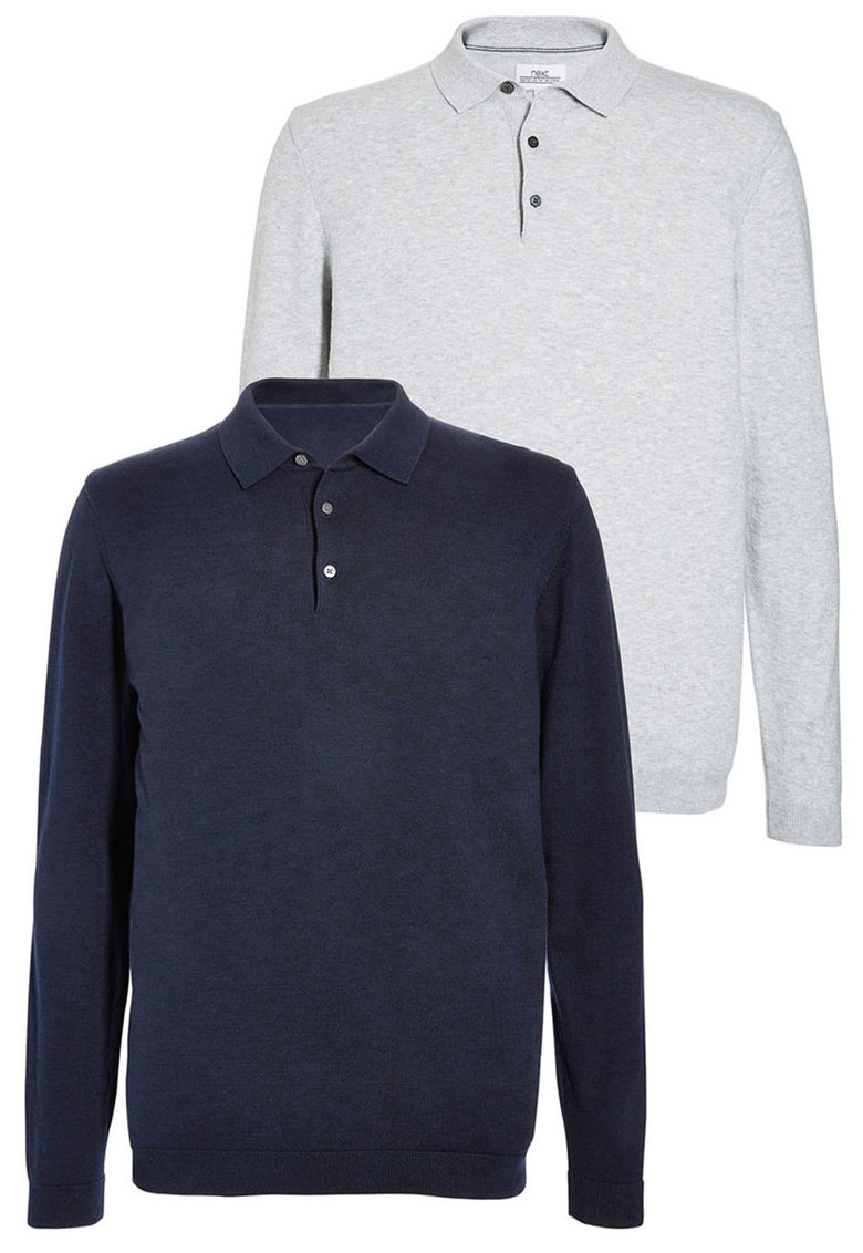 NEXT Set de bluze polo cu mansete striate – 2 piese