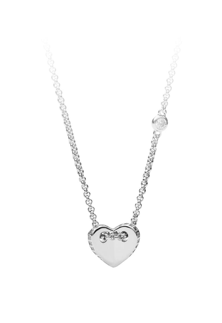 Fossil Colier din argint veritabil cu pandantiv in forma de inima