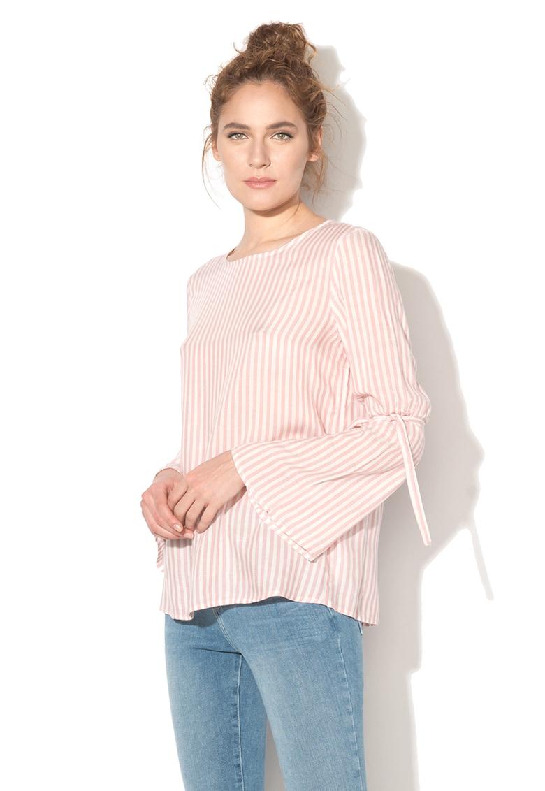 Bluza in dungi cu maneci evazate imagine fashiondays.ro