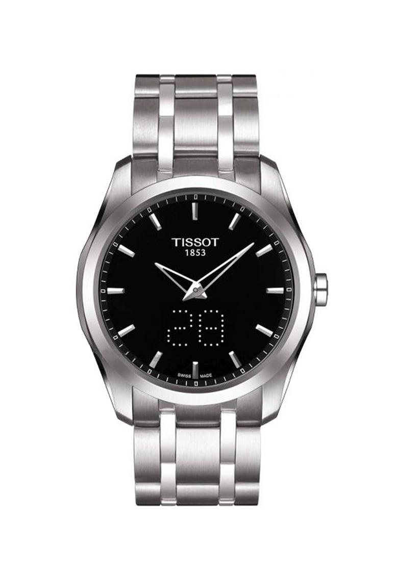 Tissot Ceas din otel inoxidabil cu mecanism quartz T-Trend Couturier
