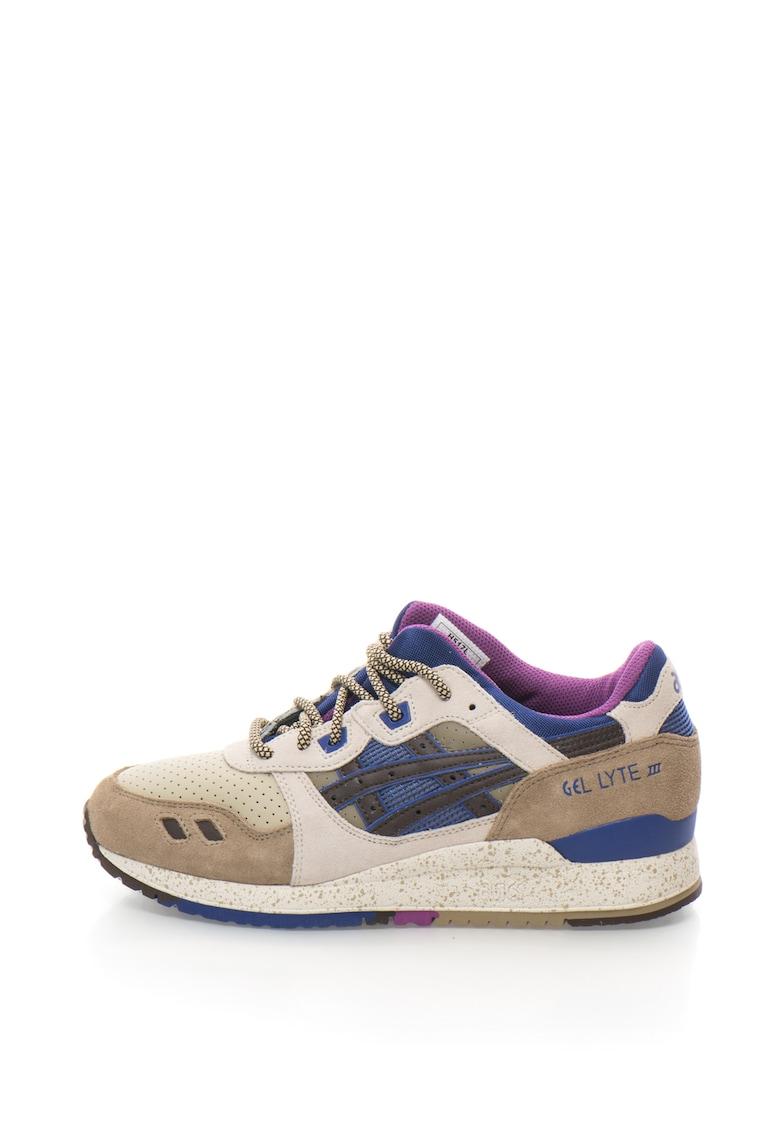 Pantofi sport din piele cu talpa cu pete decorative GEL-LYTE III