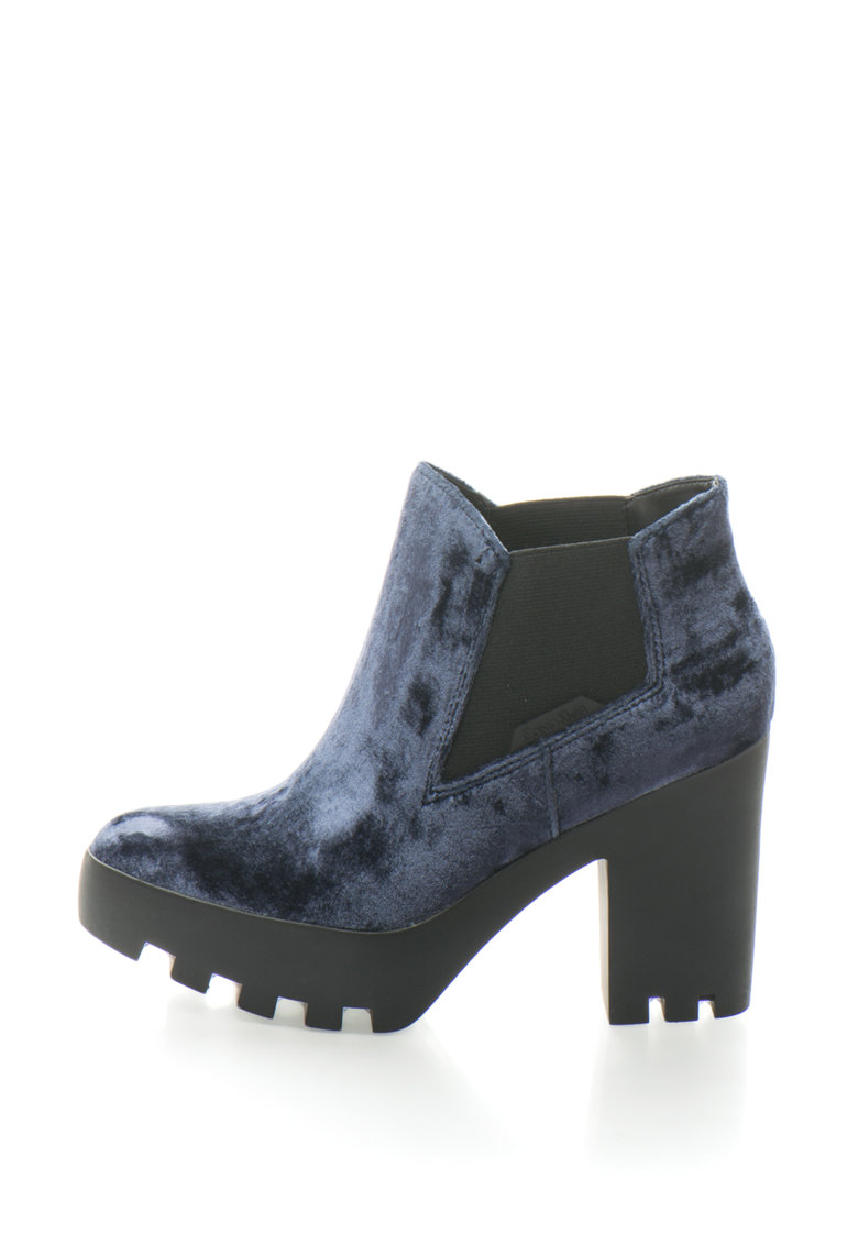 Calvin Klein Jeans Ghete Chelsea catifelate cu toc masiv Sandy