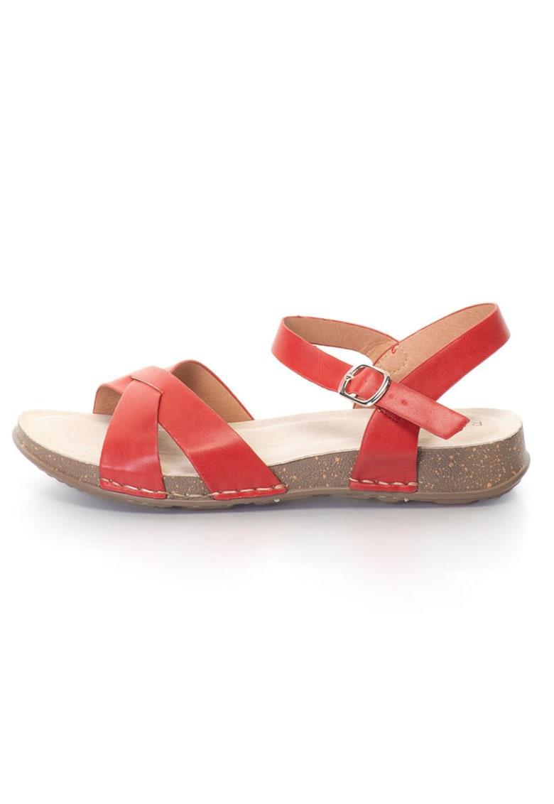 Release Sandale joase cu barete incrucisate –  Piele sintetica si interior de piele naturala