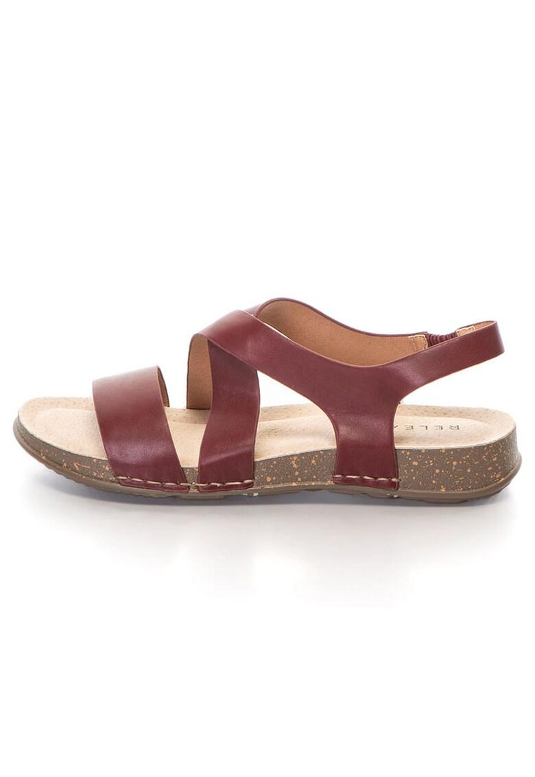 Release Sandale joase confortabile cu barete –  Piele sintetica si interior de piele naturala