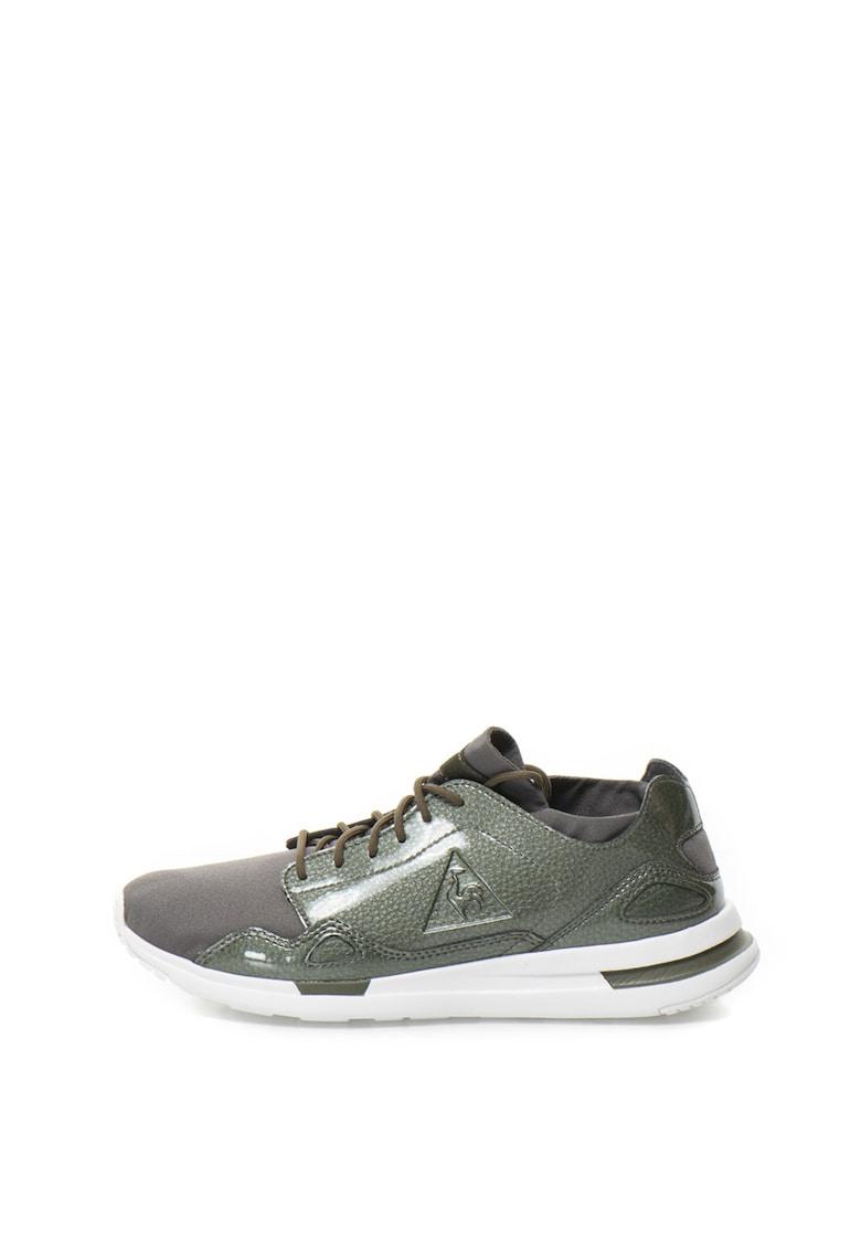 Le Coq Sportif Pantofi sport cu garnituri din piele sintetica lacuita Flow