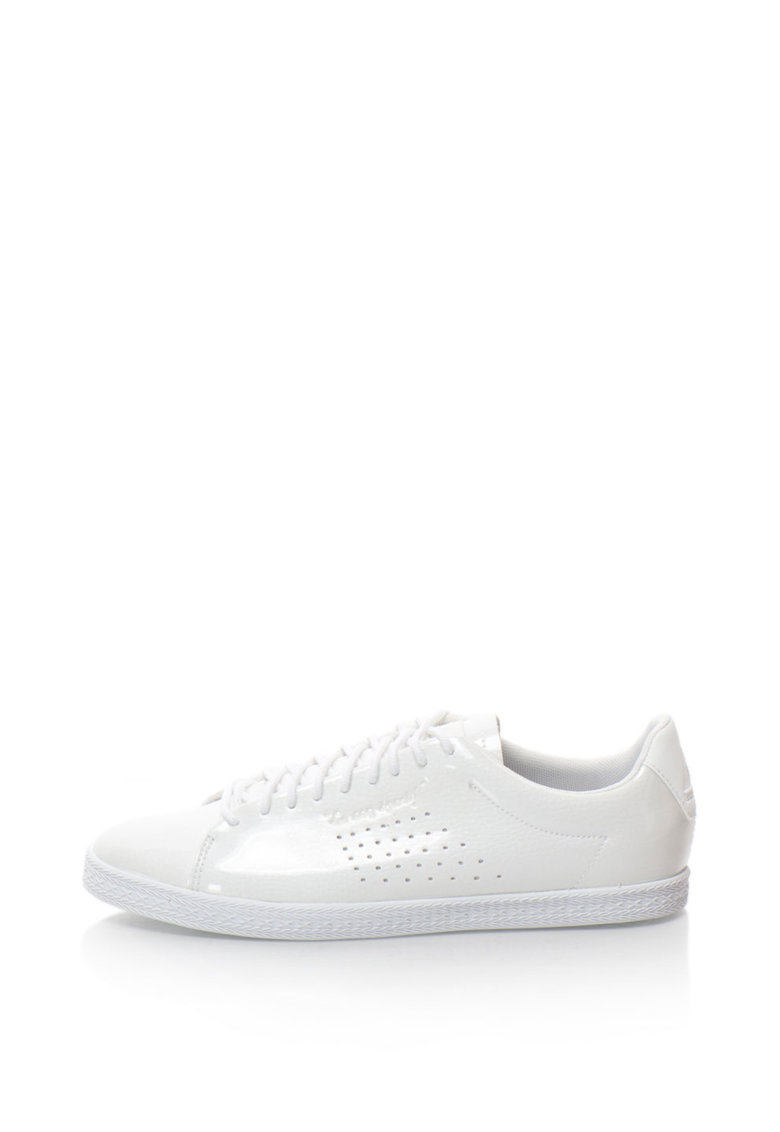 Le Coq Sportif Pantofi sport de piele sintetica cu aspect lacuit Charline