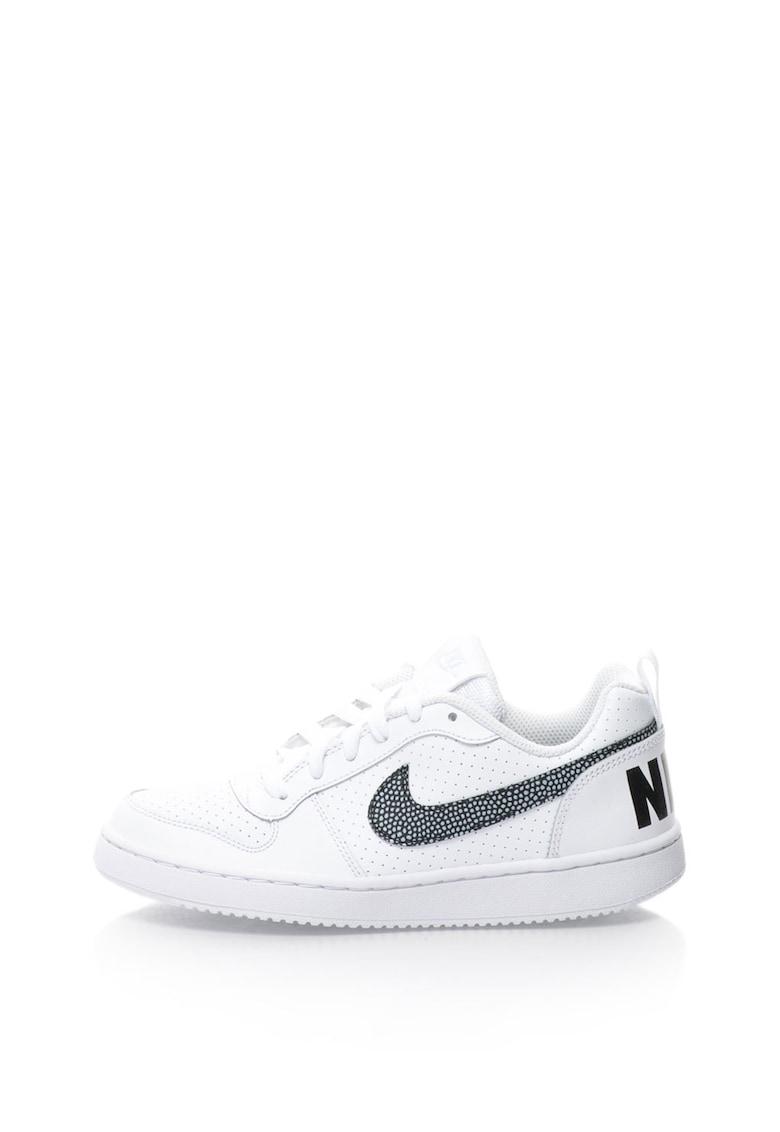 Nike Pantofi sport de piele sintetica cu talpa joasa Court Borough