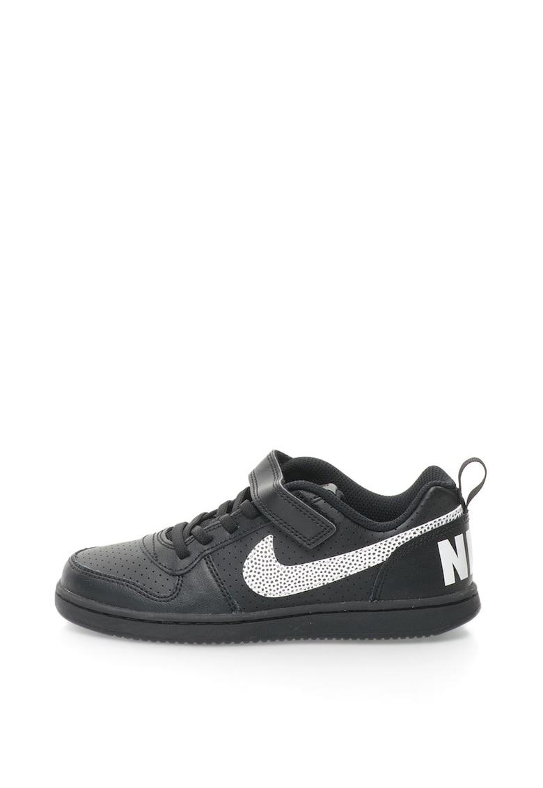 Nike Pantofi sport cu talpa joasa – garnituri de piele si logo Court Borough