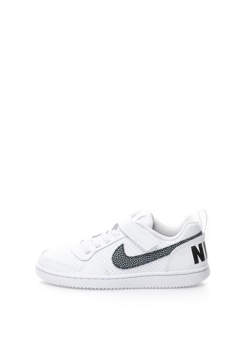 Nike Pantofi sport de piele cu banda velcro Nike Court Borough