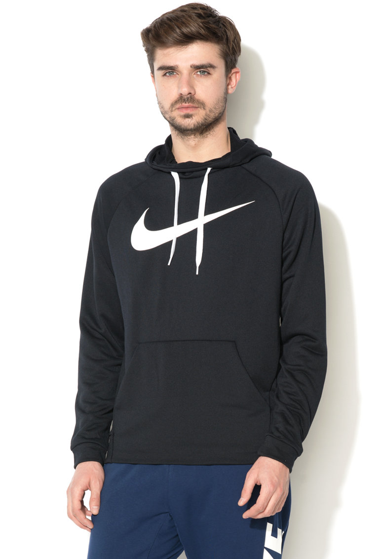 Nike Hanorac cu imprimeu logo si buzunar kangaroo Swoosh DRI-FIT