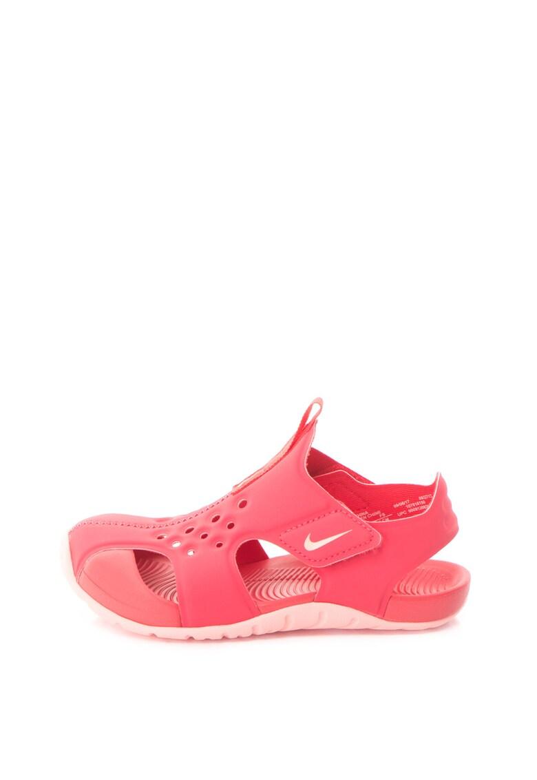Sandale cu talpa plata si benzi velcro Sunray Protect