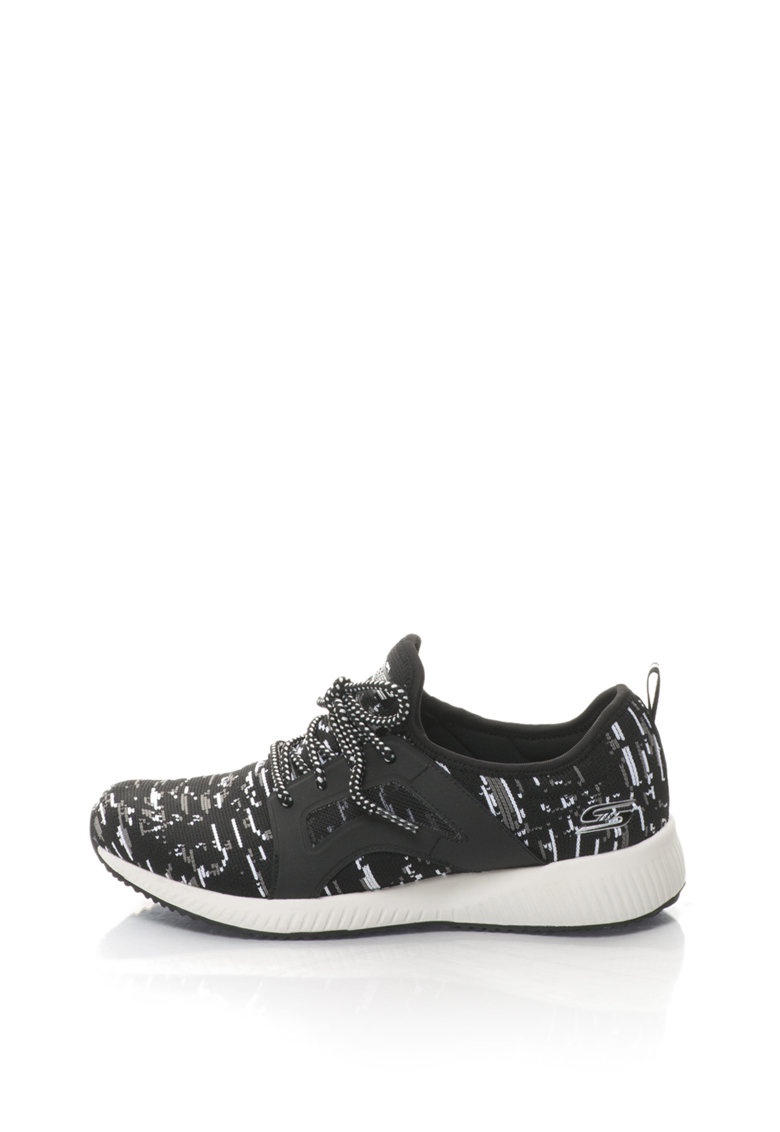 Pantofi sport slip-on cu aspect tricotat Bobs Squad-Double Dare de la Skechers