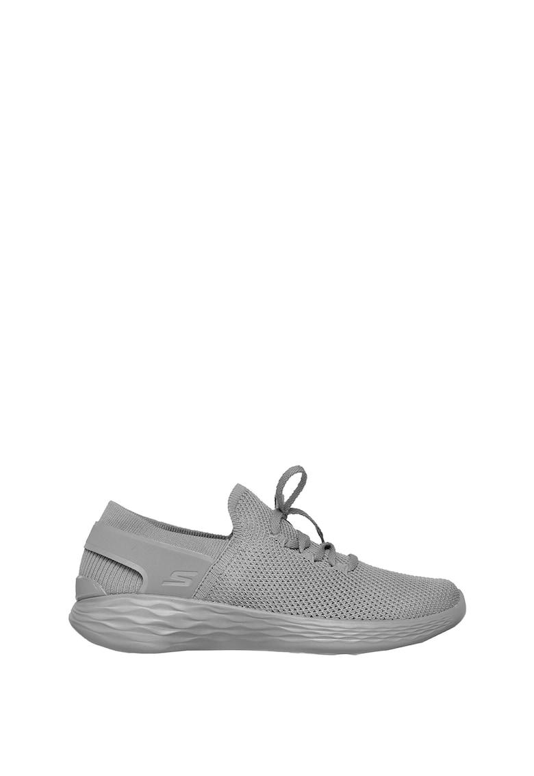 Skechers Pantofi sport slip-on cu sireturi pentru ajustare YOU