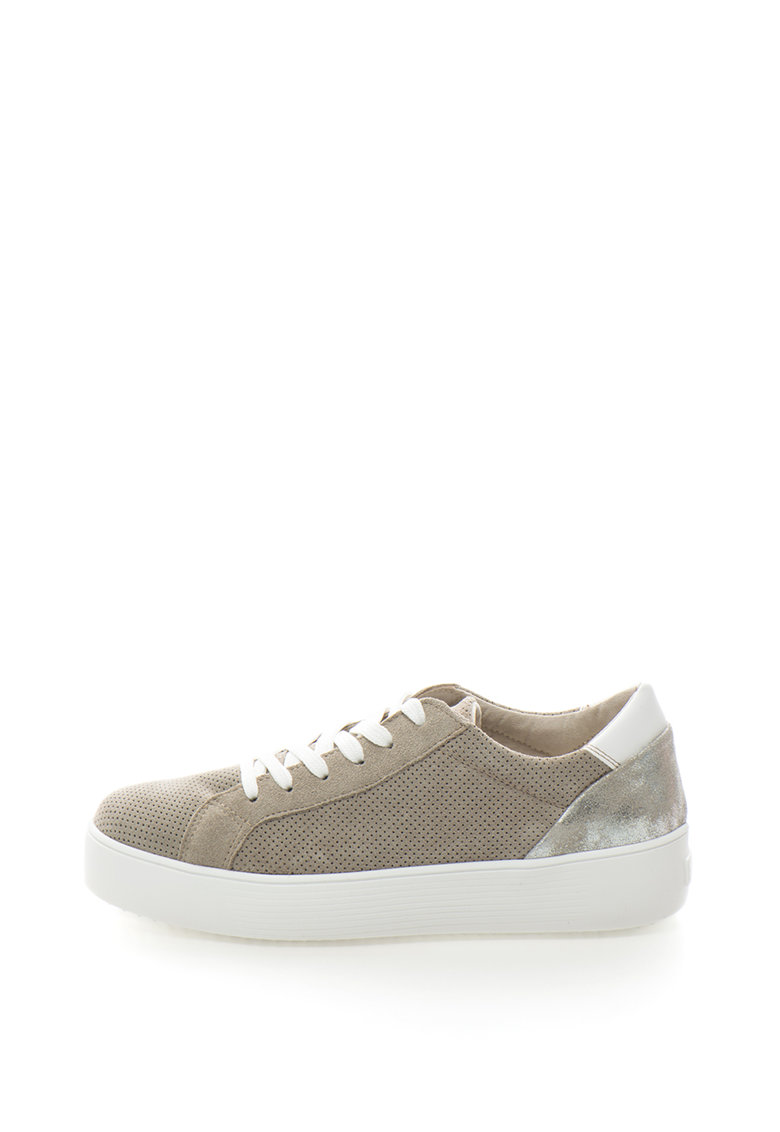 Tamaris Pantofi sport flatform cu detalii metalice
