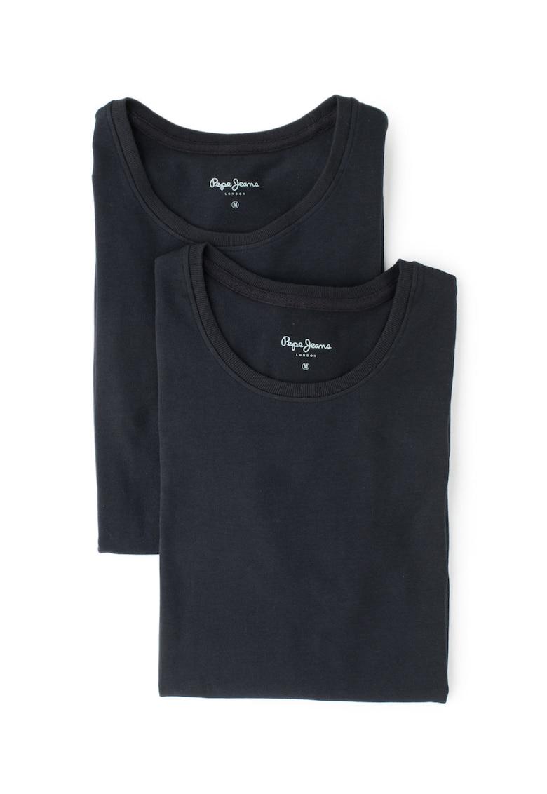 Set de tricouri de casa – cu decolteu la baza gatului Rocco Lounge – 2 piese de la Pepe Jeans London