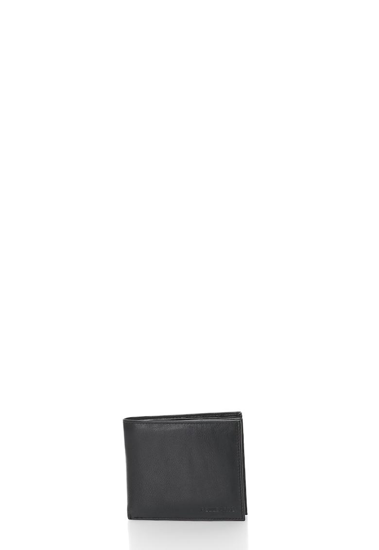 Portofel pliabil de piele cu logo