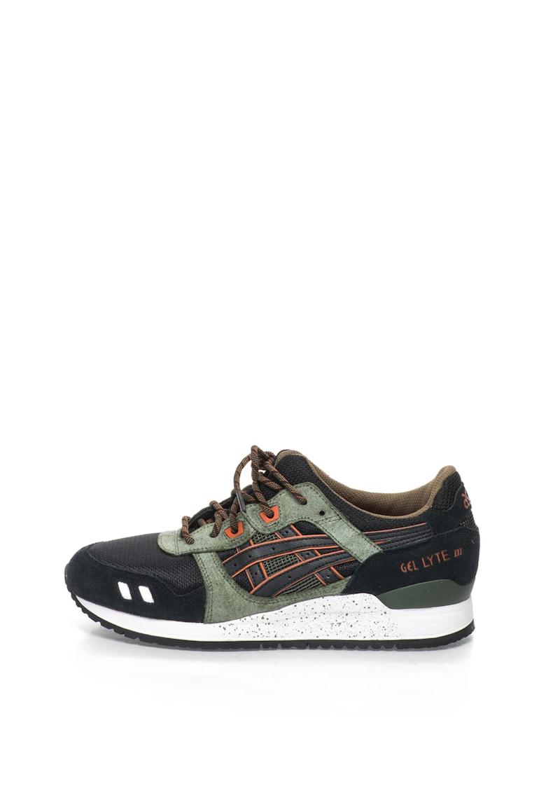 Pantofi sport cu insertii de piele intoarsa Gel Lyte III imagine