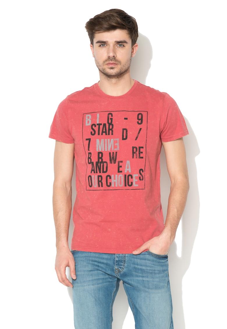 BIG STAR Tricou cu imprimeu si aspect uzat Archibald