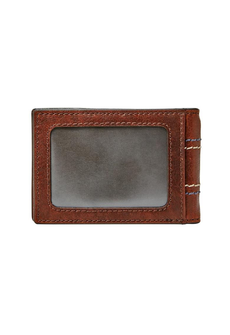 Portofel de piele pliabil cu element de securitate RFID Reese thumbnail