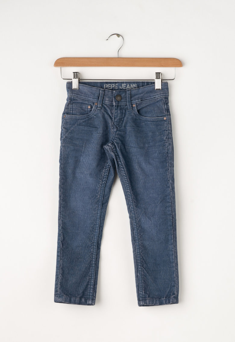 Pepe Jeans London Pantaloni slim fit din material reiat Ron