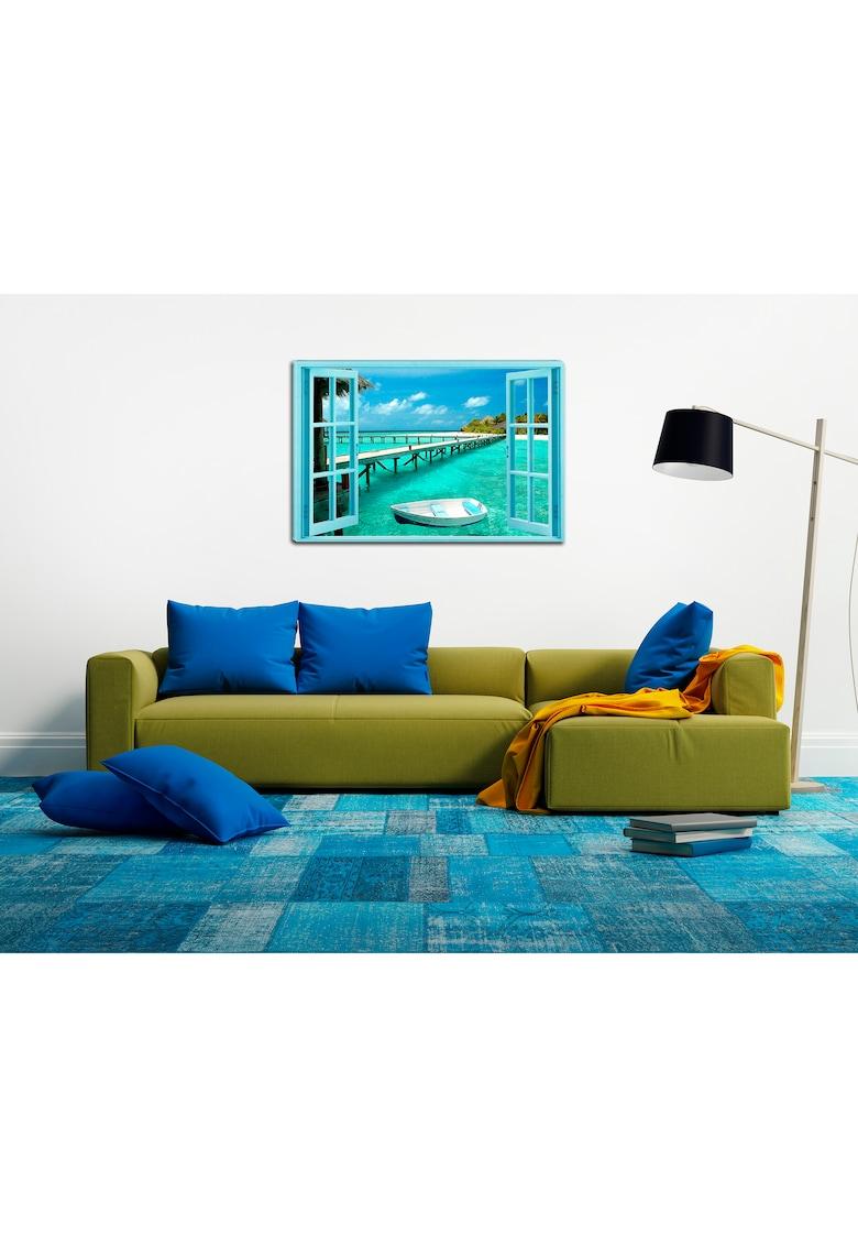 Tablou DualView  Raiul pe Pamant - Plaja - Luminos in intuneric - 70 x 100 cm