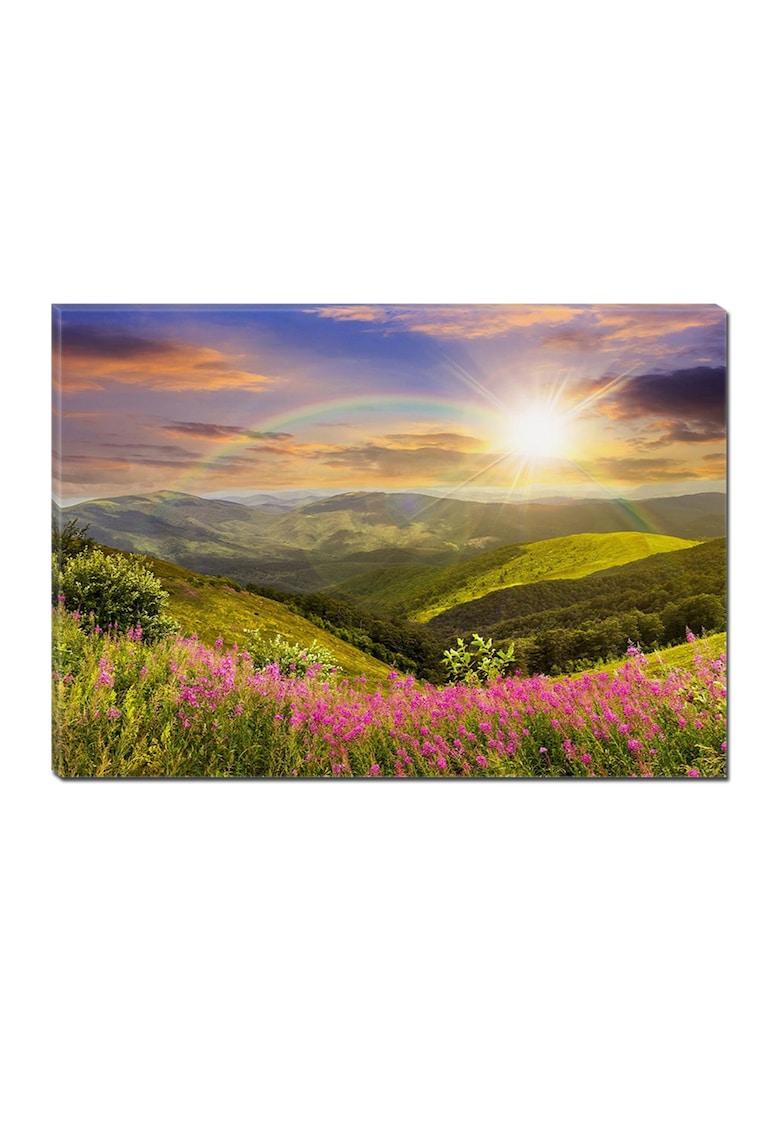 Tablou DualView Curcubeu si Soare - Peisaje -Luminos in intuneric - 70 x 100 cm