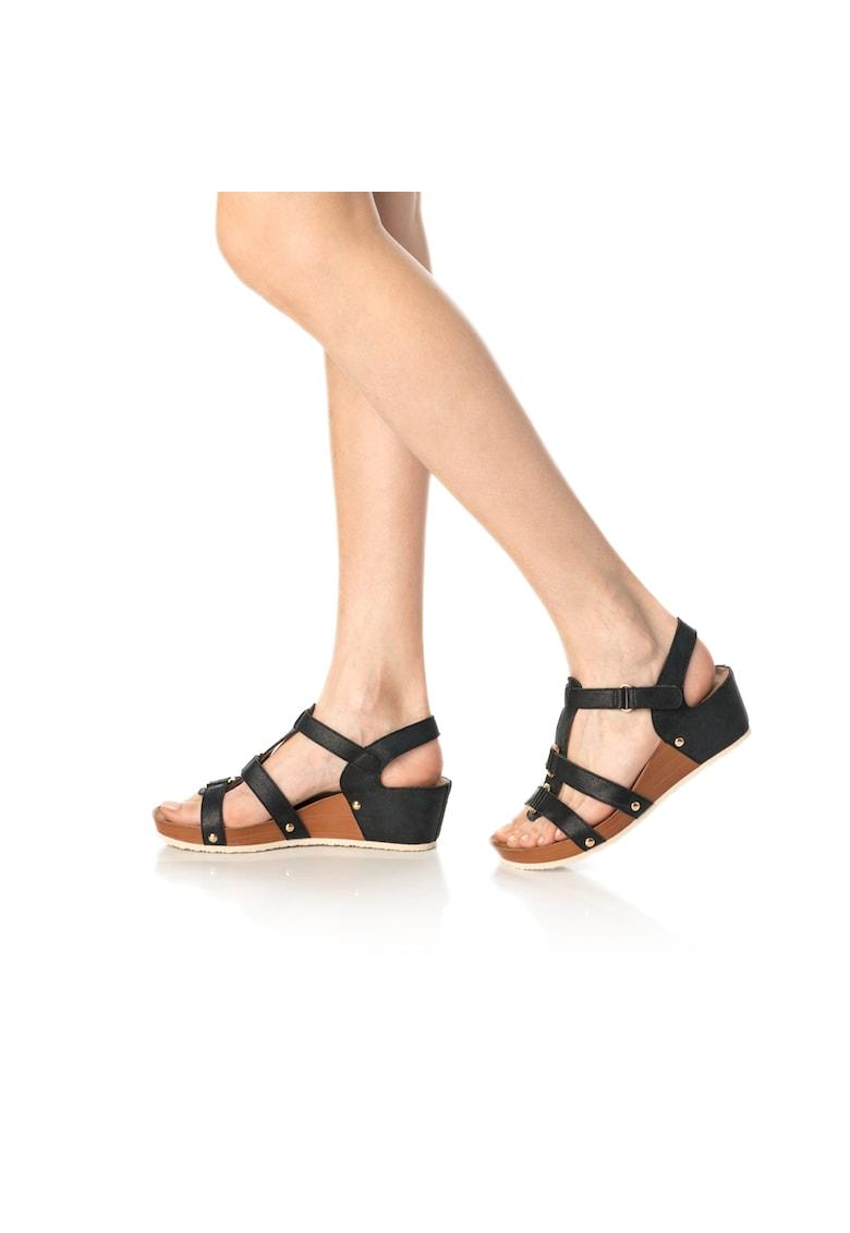 Release Sandale cu platforma din piele sintetica
