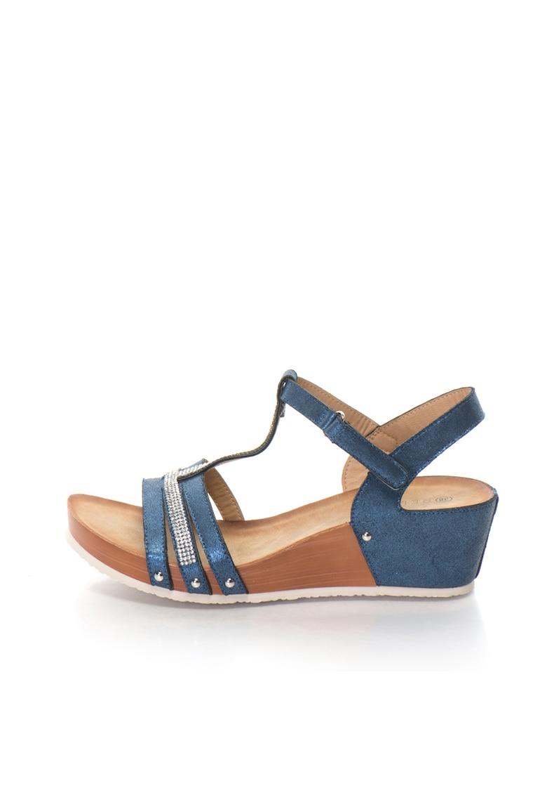 Release Sandale cu platforma si bareta cu strasuri – piele sintetica