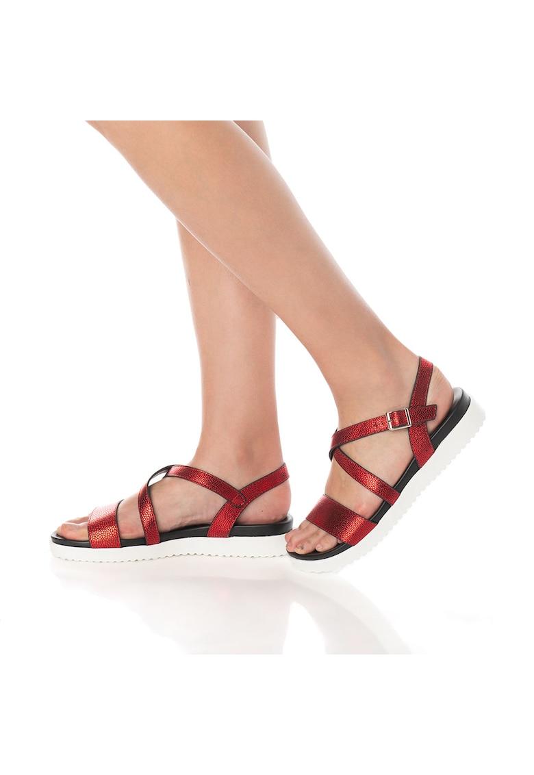 Release Sandale cu talpa joasa confortabile –  piele sintetica