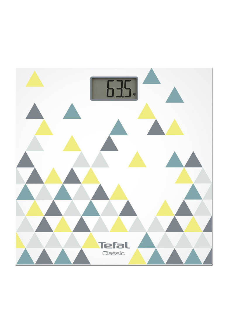 Cantar corporal  Décor PP1149V0 – 160kg – 100g – Lcd – 30x30cm – Alb/Abstract de la Tefal