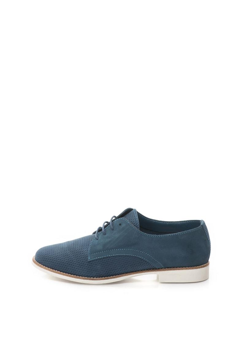Aldo Pantofi derby de piele nabuc cu perforatii decorative Pantoja