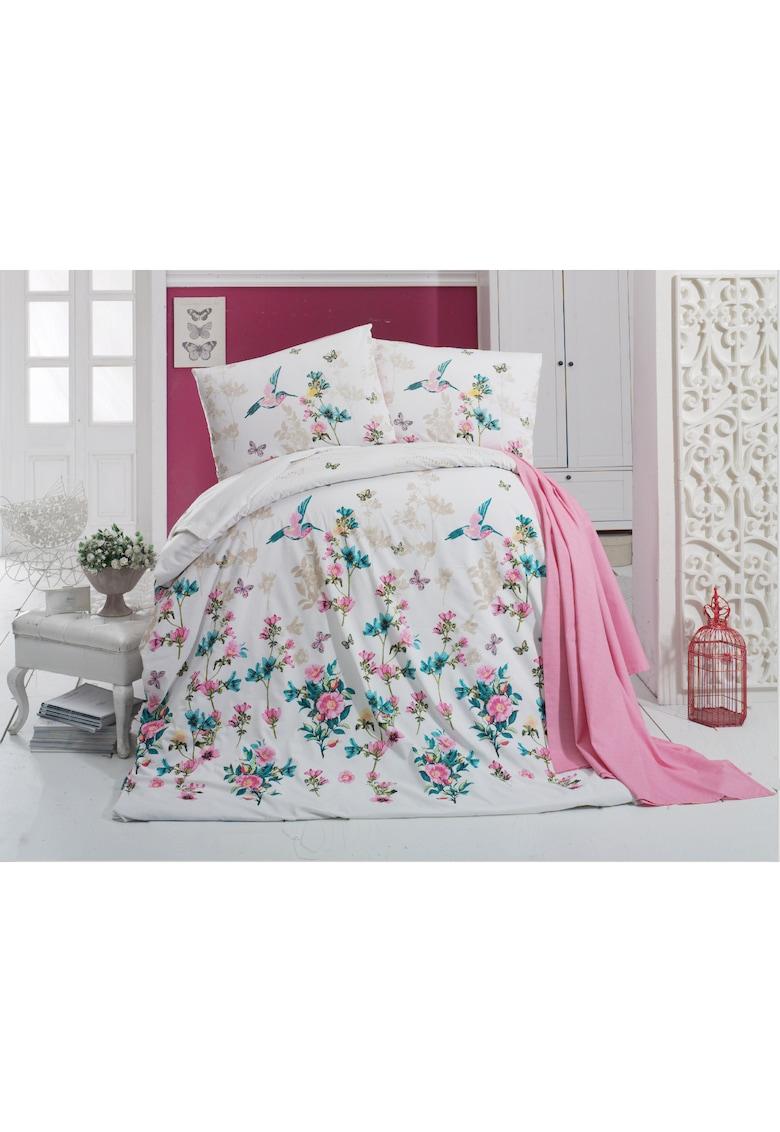 Lenjerie de pat Carmela Latte pentru 2 persoane - polycotton - 200x220 cm imagine fashiondays.ro