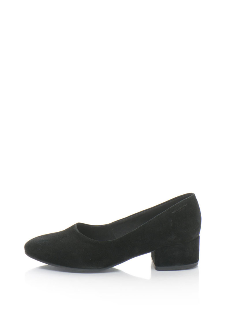 Pantofi din piele intoarsa cu toc masiv Jamilla Vagabond Shoemakers