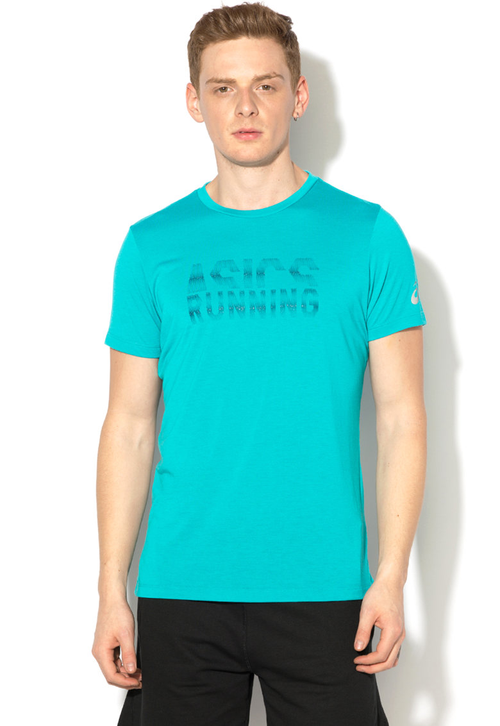 Asics Tricou cu imprimeu text pentru alergare