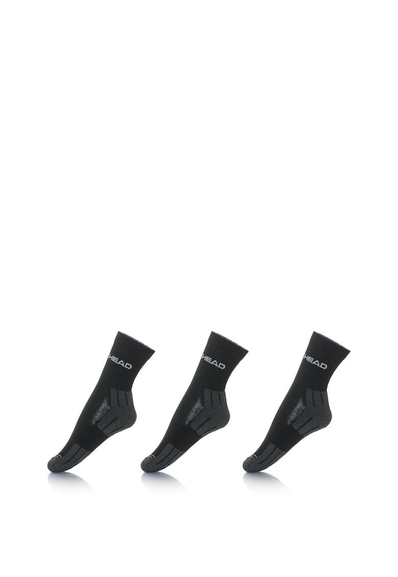 Set unisex de sosete lungi cu terminatii elastice si talpa moale – 3 perechi de la Head