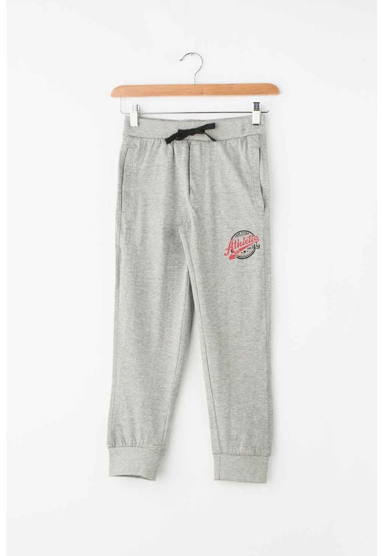 Zee Lane Kids Pantaloni sport cu snur in talie si buzunare oblice