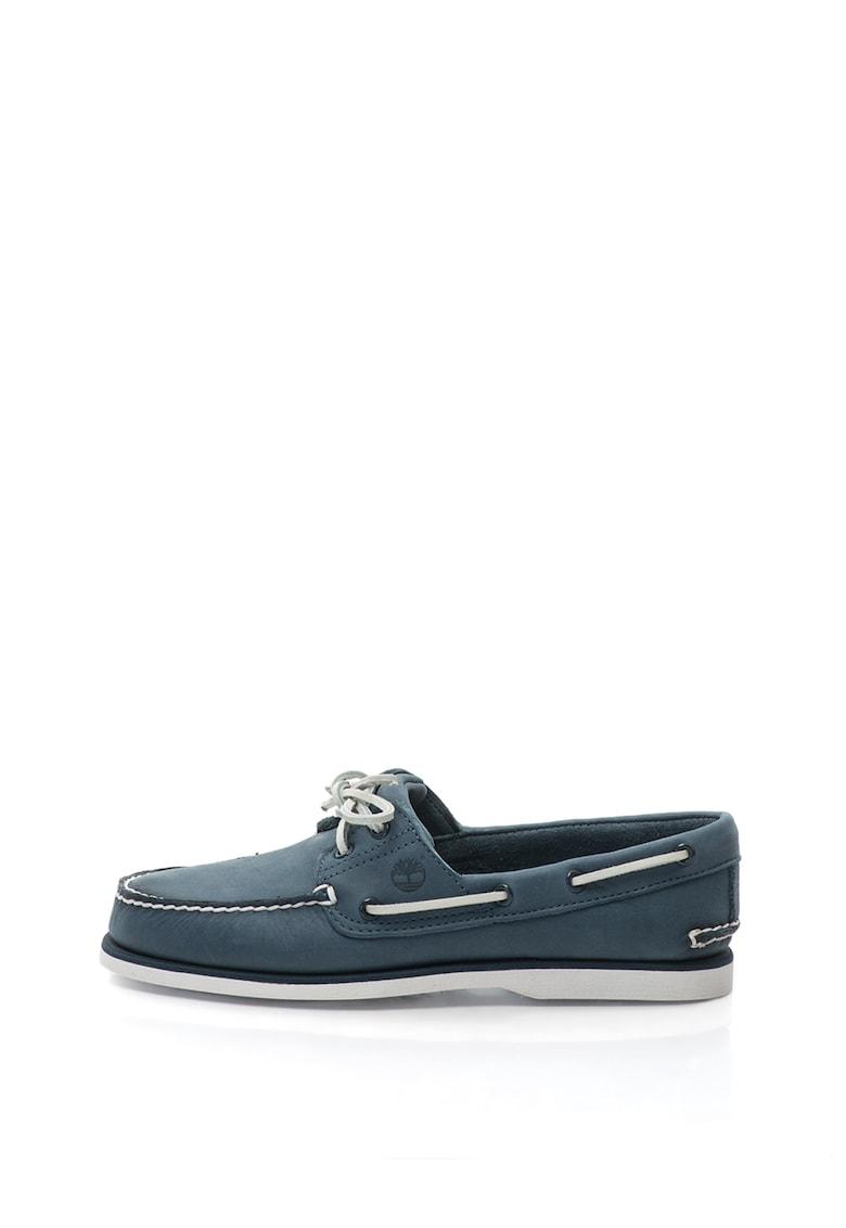 Pantofi loafer din piele cu cusaturi contrastante thumbnail