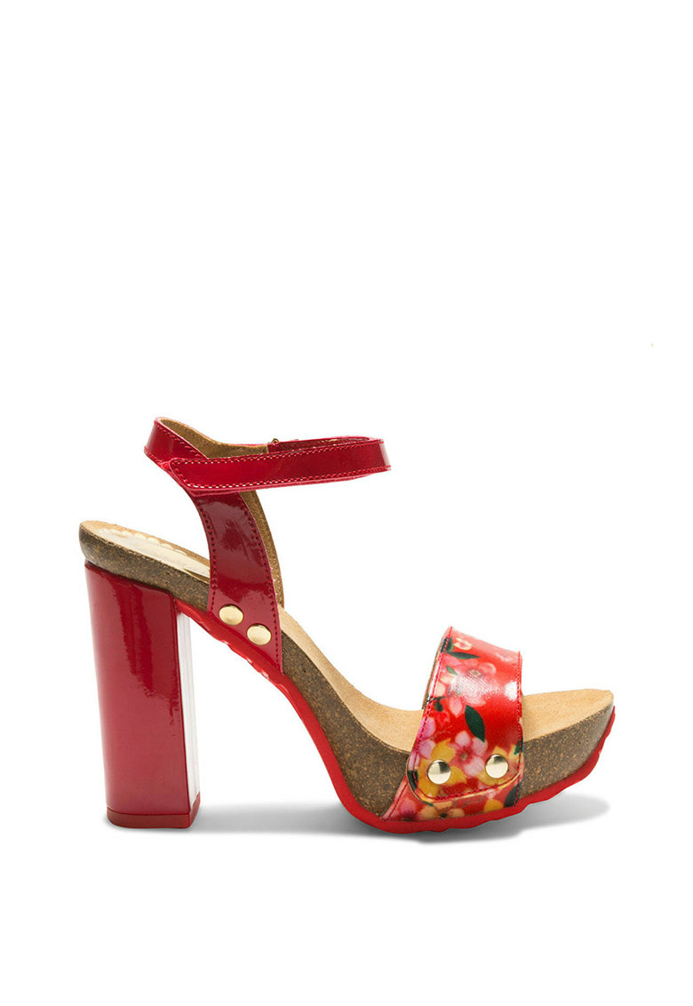 DESIGUAL Sandale cu toc inalt Samba Microrapport