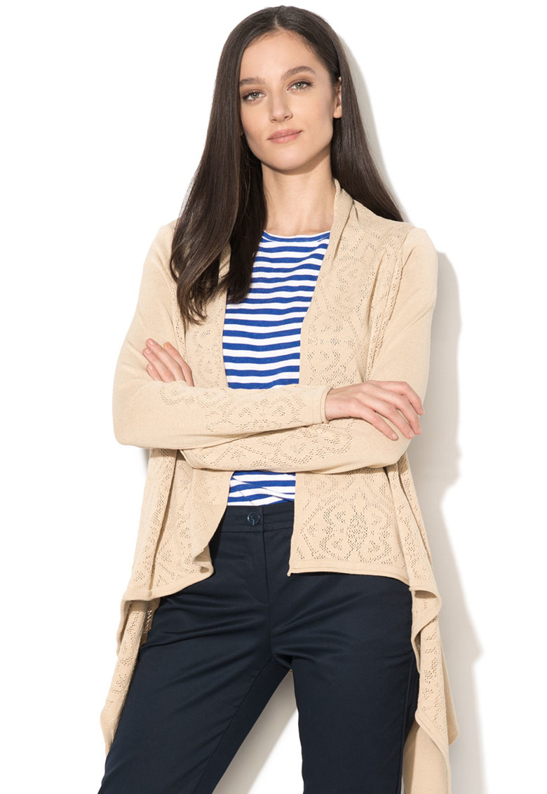 United Colors of Benetton Cardigan asimetric fara inchidere Heritage