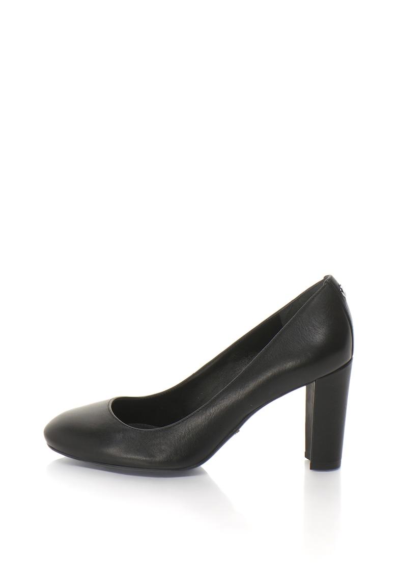 Lauren Ralph Lauren Pantofi din piele cu toc inalt Maddie