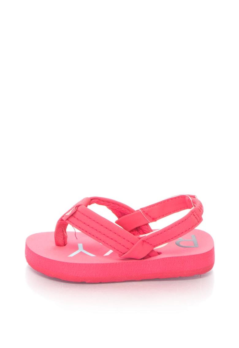 Sandale cu bareta separatoare si cusaturi decorative