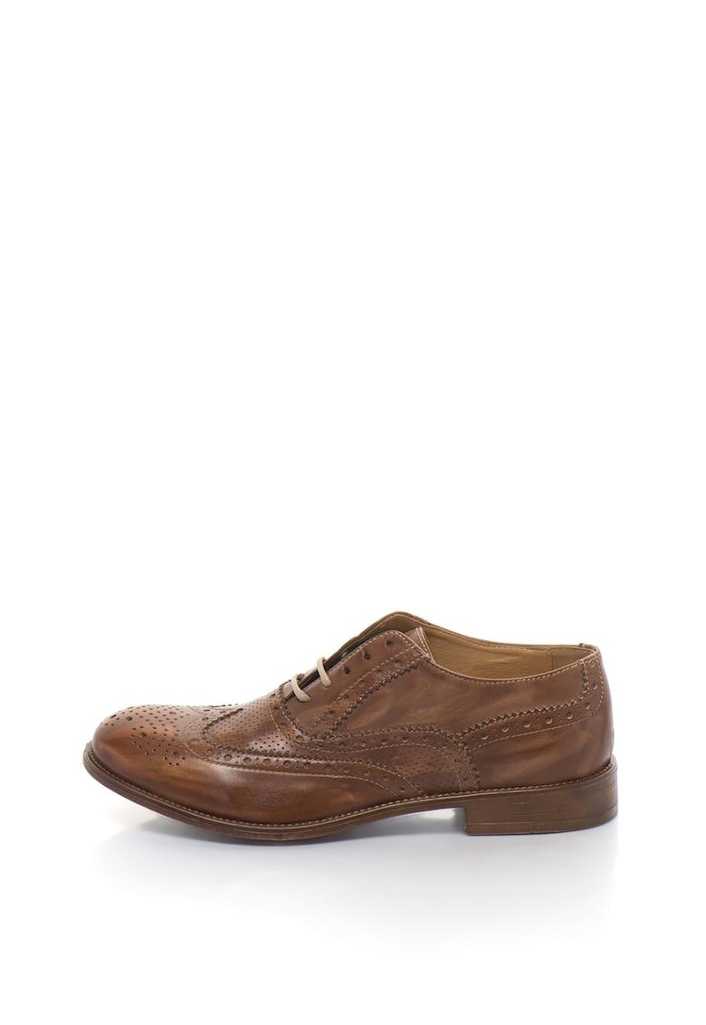 Zee Lane Pantofi brogue de piele cu aspect retro