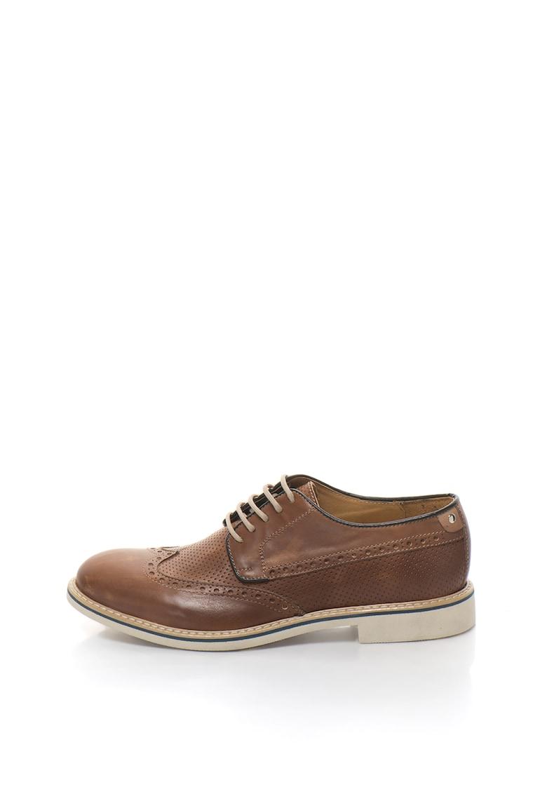 Zee Lane Pantofi Derby de piele cu perforatii