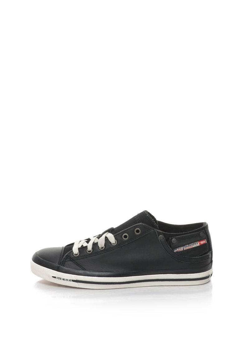 Pantofi sport cu garnituri din piele de vaca Exposure de la Diesel