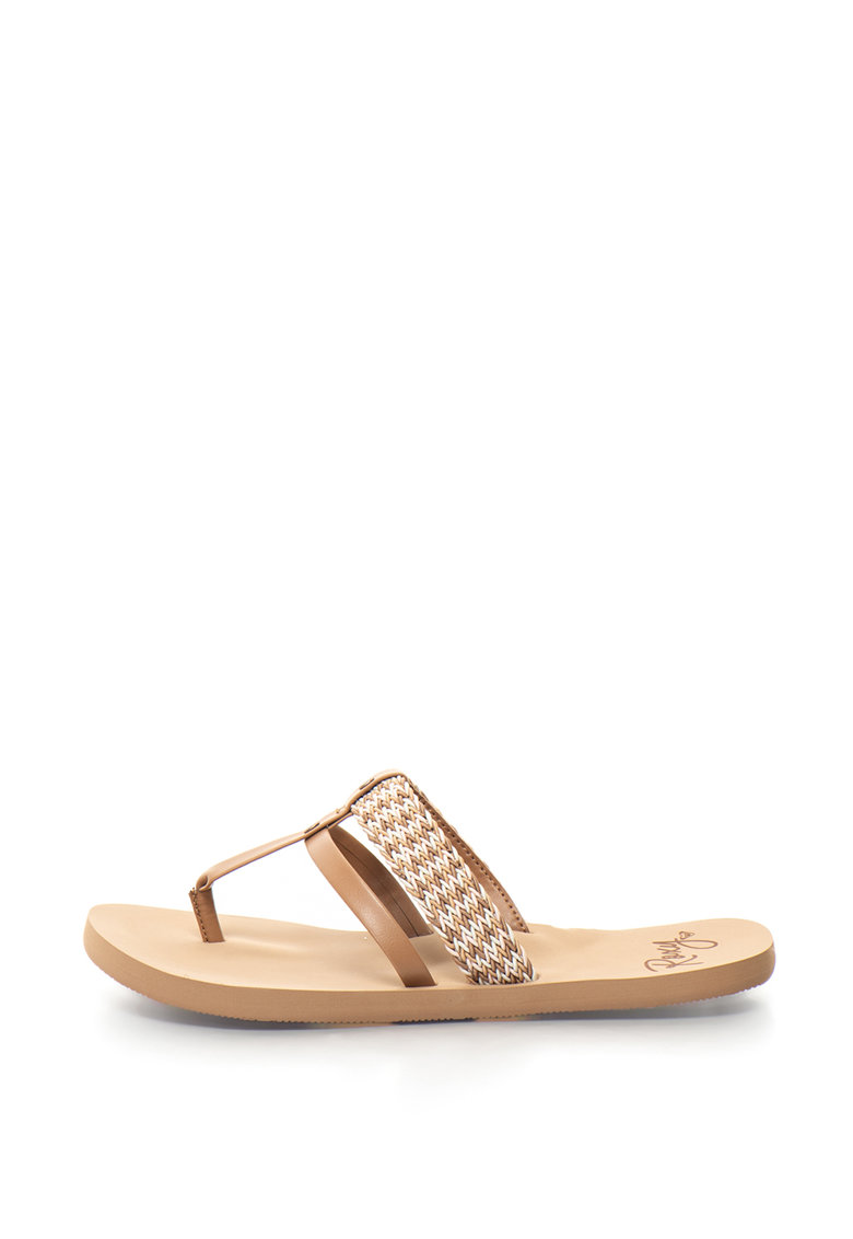 ROXY Papuci flip-flop cu aspect impletit