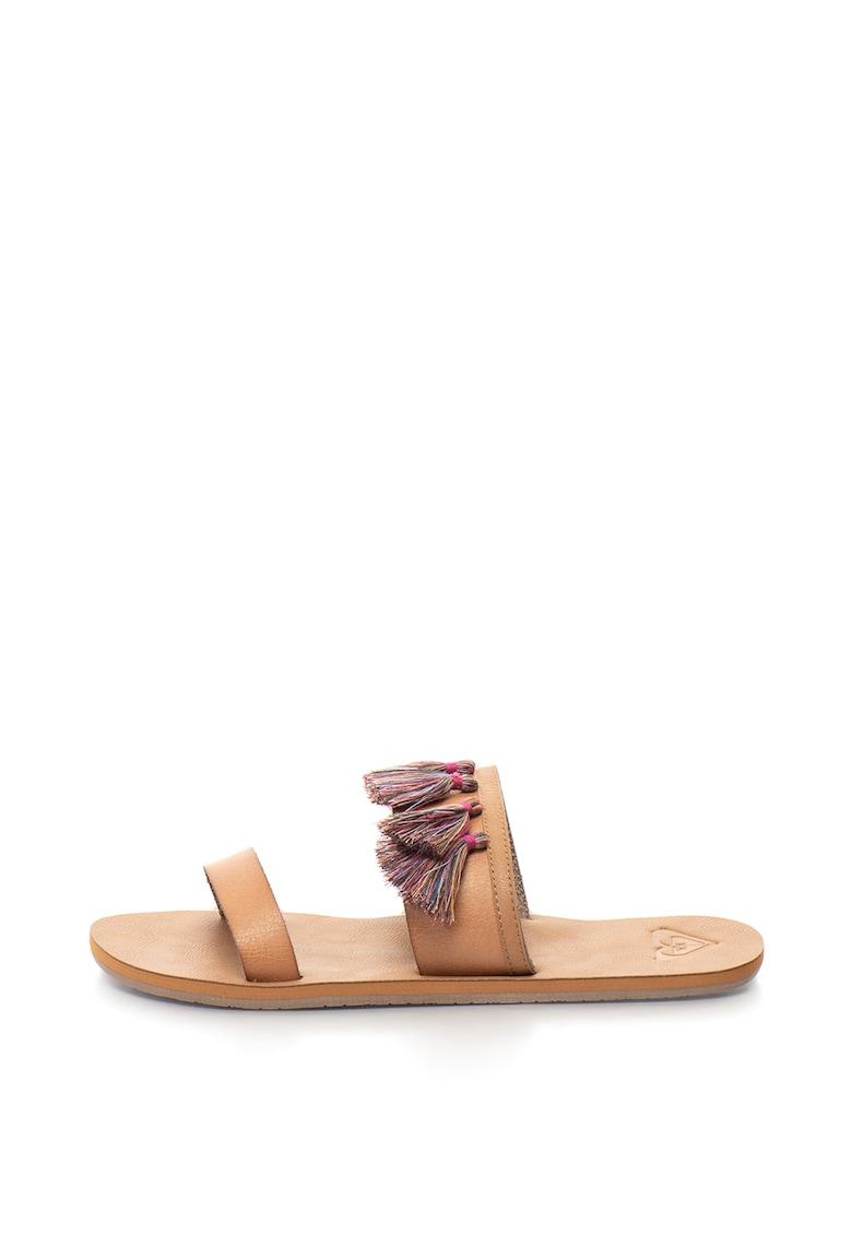 ROXY Papuci de piele sintetica – cu canafi